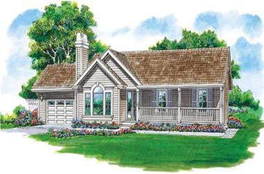 3-Bedroom, 1428 Sq Ft Country House Plan - 167-1440 - Front Exterior