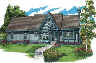 3-Bedroom, 1282 Sq Ft French House Plan - 167-1444 - Front Exterior