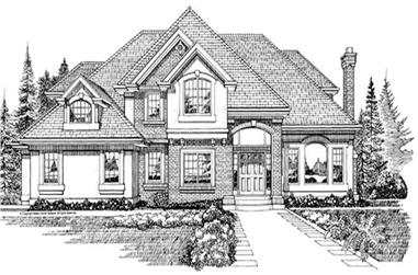 4-Bedroom, 4101 Sq Ft European House Plan - 167-1447 - Front Exterior
