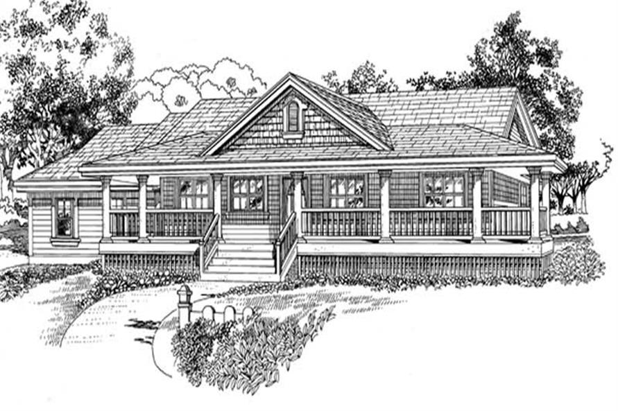 Front Elevation of this 3-Bedroom,1578 Sq Ft Plan -1578