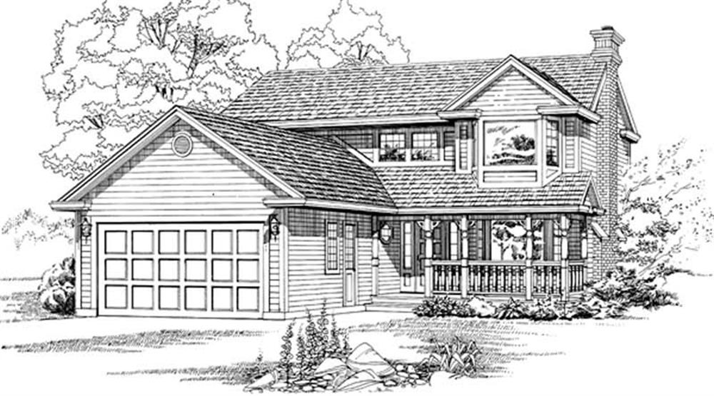 Traditional home (ThePlanCollection: Plan #167-1455)