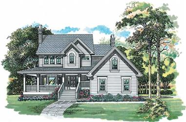 3-Bedroom, 1924 Sq Ft Country Home Plan - 167-1458 - Main Exterior