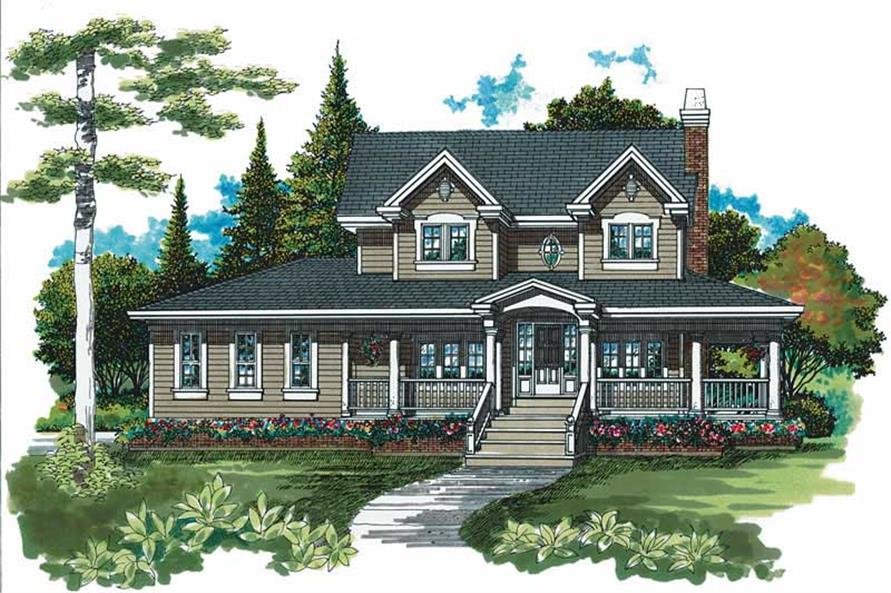 4-Bedroom, 2462 Sq Ft Country Home Plan - 167-1460 - Main Exterior