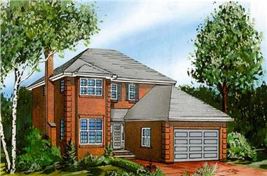 4-Bedroom, 2464 Sq Ft European House Plan - 167-1464 - Front Exterior