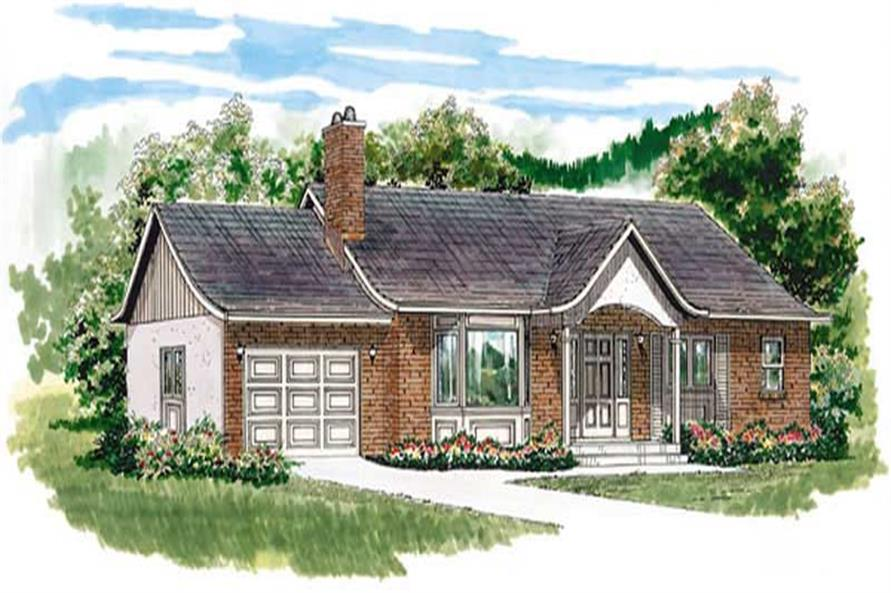 3-Bedroom, 1285 Sq Ft Ranch House Plan - 167-1465 - Front Exterior