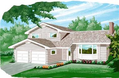 3-Bedroom, 2110 Sq Ft Traditional House Plan - 167-1466 - Front Exterior