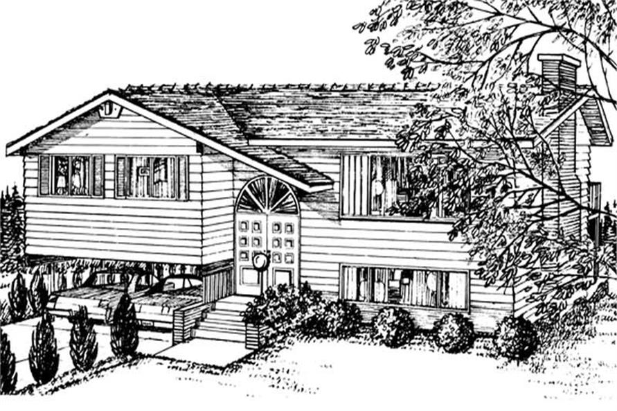 3-Bedroom, 1136 Sq Ft Small House Plans - 167-1467 - Front Exterior