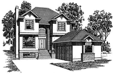 4-Bedroom, 3207 Sq Ft European Home Plan - 167-1470 - Main Exterior