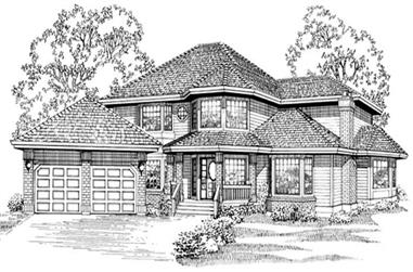 5-Bedroom, 3327 Sq Ft Country House Plan - 167-1473 - Front Exterior