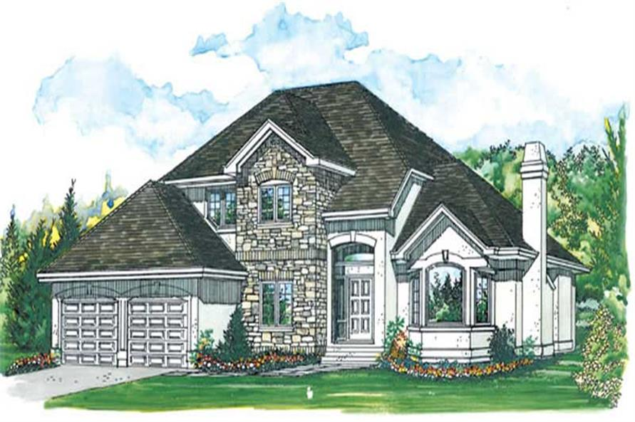 4-Bedroom, 2746 Sq Ft European Home Plan - 167-1476 - Main Exterior