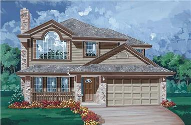3-Bedroom, 1341 Sq Ft Contemporary House Plan - 167-1479 - Front Exterior