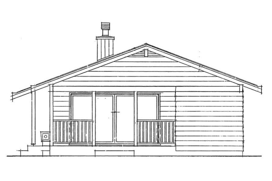 Home Plan Right Elevation of this 2-Bedroom,839 Sq Ft Plan -167-1480
