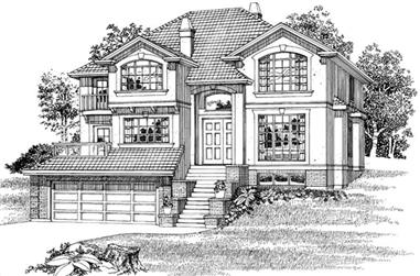 4-Bedroom, 3068 Sq Ft European Home Plan - 167-1487 - Main Exterior