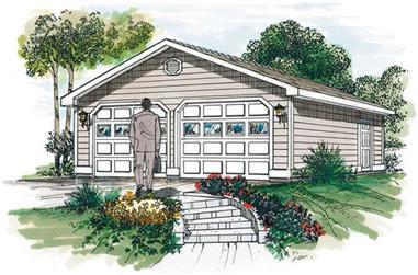 0-Bedroom, 50 Sq Ft Garage Home Plan - 167-1490 - Main Exterior