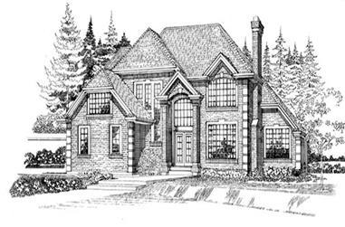 4-Bedroom, 3805 Sq Ft European House Plan - 167-1491 - Front Exterior