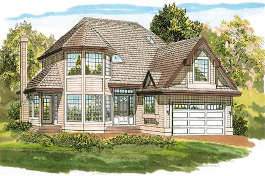 3-Bedroom, 2243 Sq Ft Contemporary House Plan - 167-1495 - Front Exterior