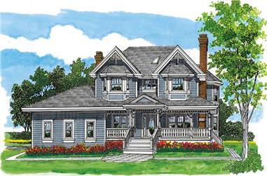 4-Bedroom, 2533 Sq Ft Farmhouse Home Plan - 167-1499 - Main Exterior