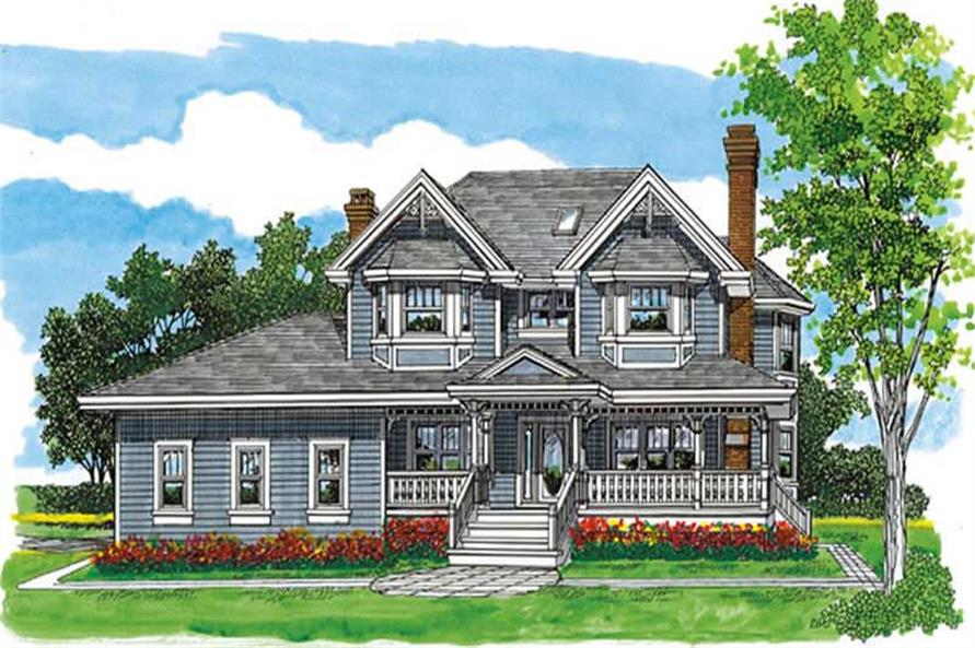 4-Bedroom, 2533 Sq Ft Farmhouse Home Plan - 167-1499 - Main Exterior