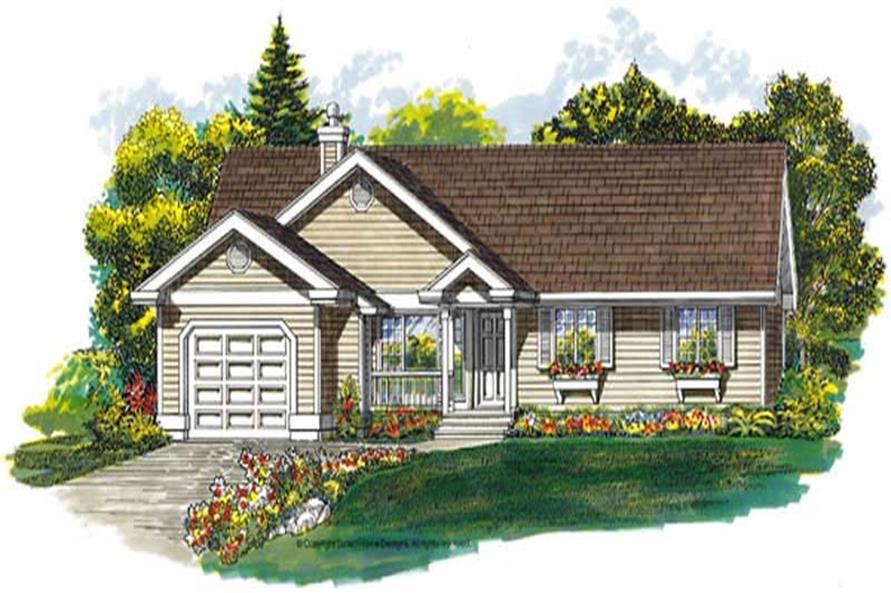 3-Bedroom, 1431 Sq Ft Country House Plan - 167-1500 - Front Exterior