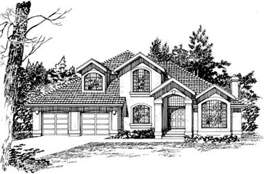 3-Bedroom, 2669 Sq Ft Mediterranean House Plan - 167-1501 - Front Exterior
