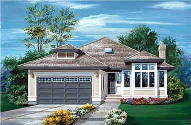 3-Bedroom, 1598 Sq Ft Ranch House Plan - 167-1503 - Front Exterior