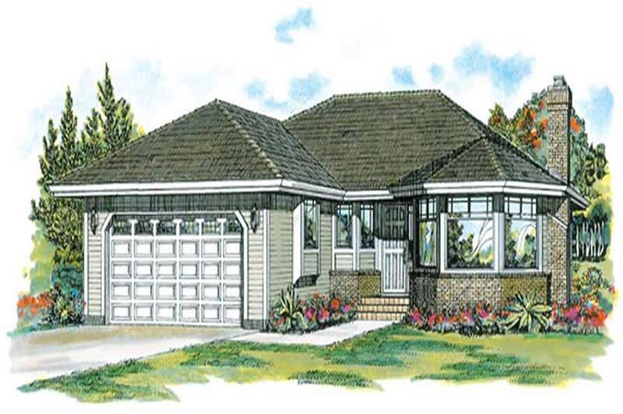 3-Bedroom, 1511 Sq Ft Ranch House Plan - 167-1504 - Front Exterior