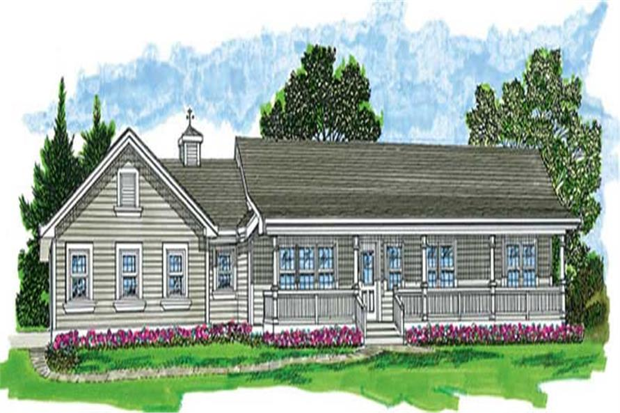 3-Bedroom, 1652 Sq Ft Farmhouse Home Plan - 167-1505 - Main Exterior