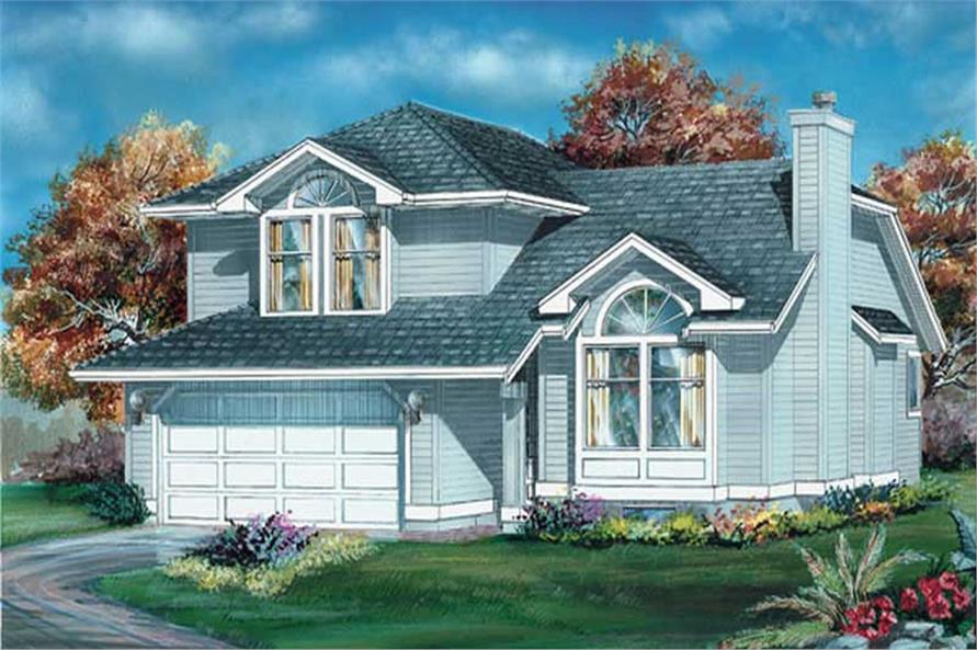 3-Bedroom, 1710 Sq Ft Small House Plans - 167-1507 - Front Exterior