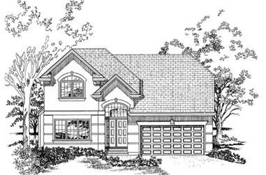 4-Bedroom, 2431 Sq Ft Traditional House Plan - 167-1508 - Front Exterior