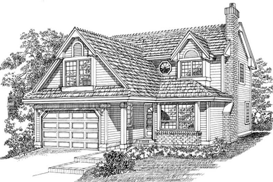 4-Bedroom, 2472 Sq Ft Traditional House Plan - 167-1510 - Front Exterior