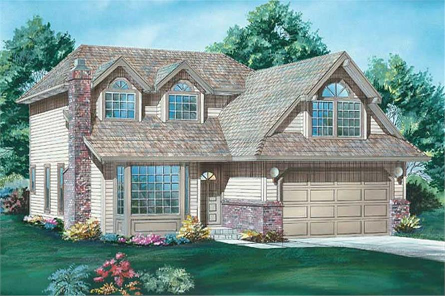 3-Bedroom, 2034 Sq Ft Country House Plan - 167-1514 - Front Exterior
