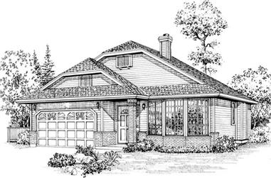 2-Bedroom, 1398 Sq Ft Ranch House Plan - 167-1515 - Front Exterior