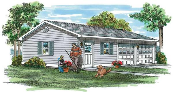 Main image for house plan # 7380
