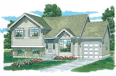 3-Bedroom, 1200 Sq Ft Small House Plans - 167-1520 - Main Exterior