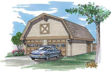 0-Bedroom, 50 Sq Ft Garage Home Plan - 167-1521 - Main Exterior