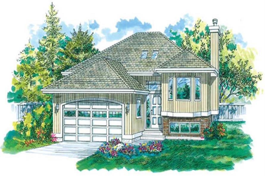 3-Bedroom, 1325 Sq Ft Small House Plans - 167-1522 - Main Exterior