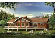 Log Homeplans SEA225 color rendering.