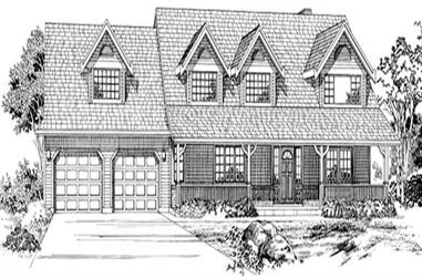 5-Bedroom, 2409 Sq Ft Country House Plan - 167-1527 - Front Exterior
