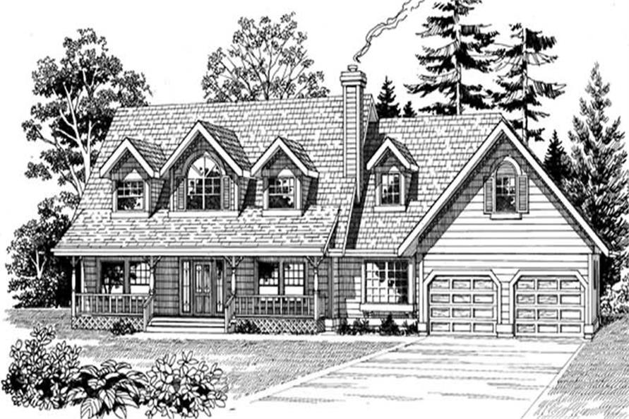 Home Plan Rendering of this 3-Bedroom,2044 Sq Ft Plan -167-1531