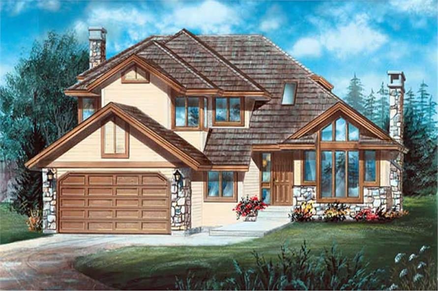 3-Bedroom, 2135 Sq Ft Contemporary House Plan - 167-1533 - Front Exterior