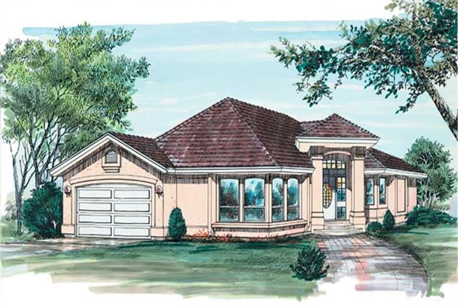 3-Bedroom, 1635 Sq Ft Contemporary House Plan - 167-1540 - Front Exterior
