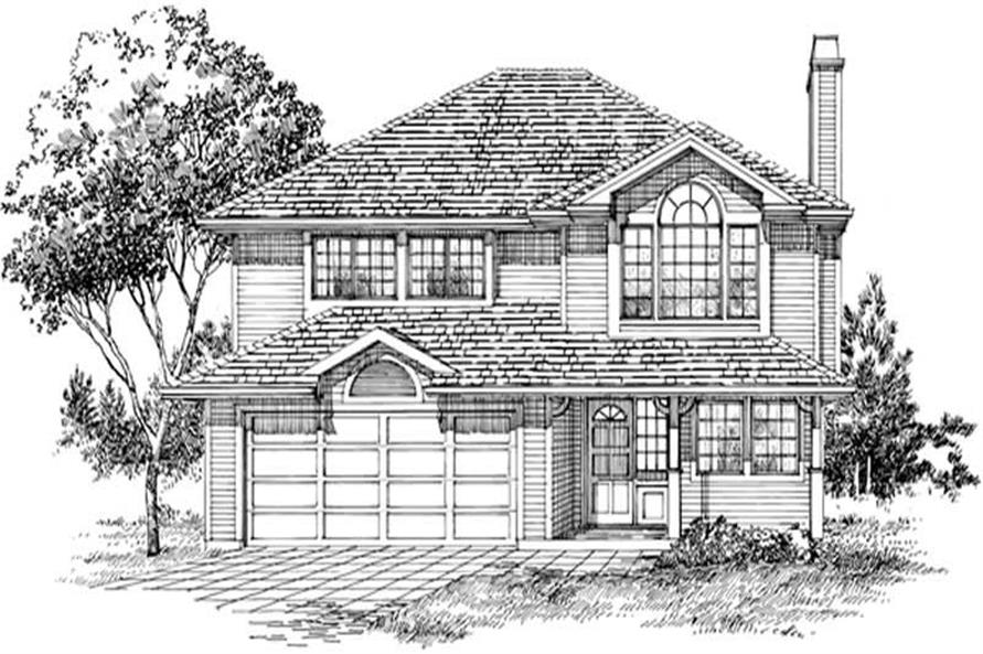 3-Bedroom, 1446 Sq Ft Country House Plan - 167-1541 - Front Exterior