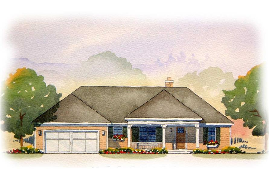 5-Bedroom, 2713 Sq Ft Country Home Plan - 168-1000 - Main Exterior