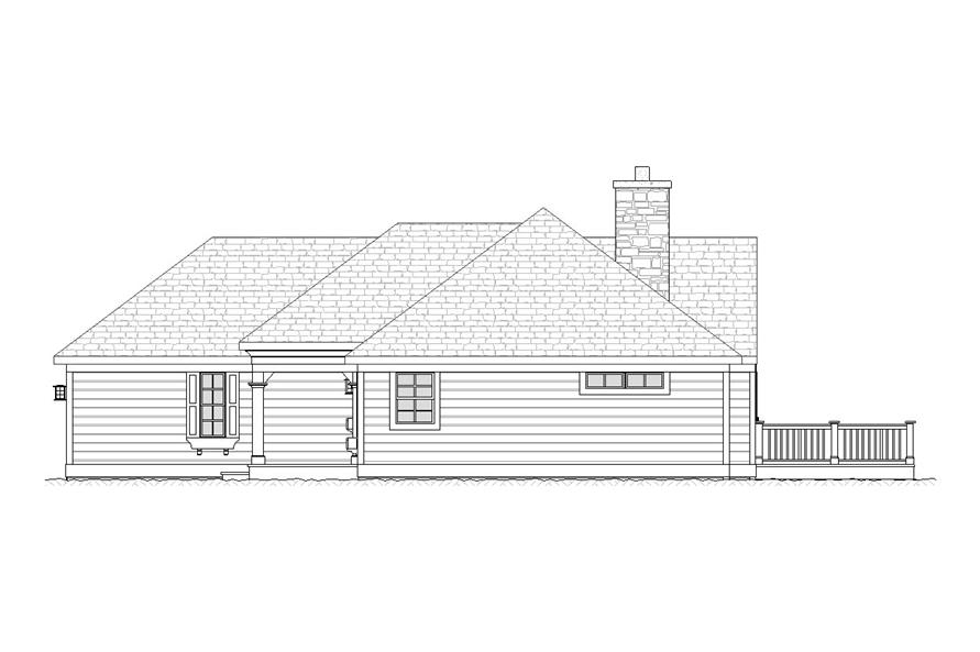 Home Plan Right Elevation of this 5-Bedroom,2713 Sq Ft Plan -168-1000