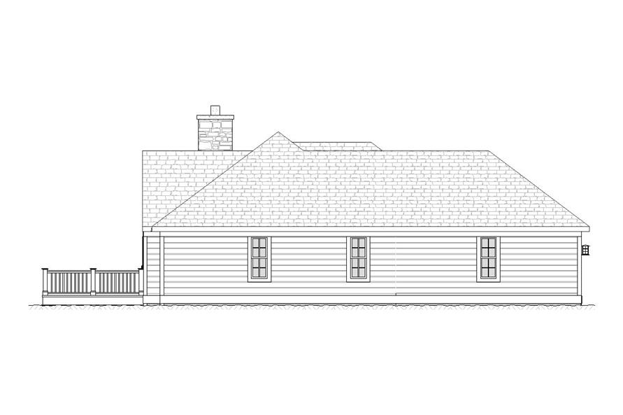 Home Plan Left Elevation of this 5-Bedroom,2713 Sq Ft Plan -168-1000