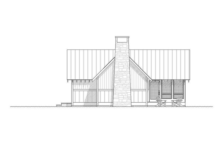168-1001: Home Plan Right Elevation