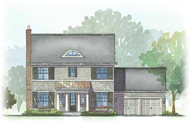 3-Bedroom, 2294 Sq Ft Colonial House Plan - 168-1002 - Front Exterior