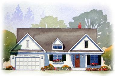 4-Bedroom, 2467 Sq Ft Country Home Plan - 168-1003 - Main Exterior