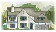 This is a colored front elevation of these European Home Plans.