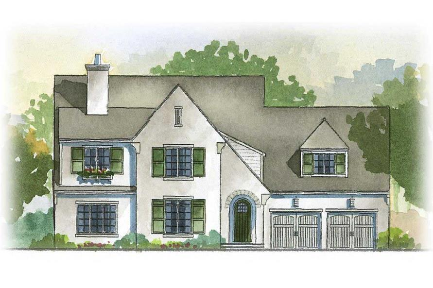 3-Bedroom, 3198 Sq Ft European Home - Plan #168-1005 - Main Exterior